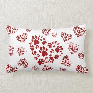 Love is a four legged word lumbar pillow