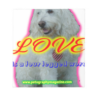 Love is a four legged word notepad
