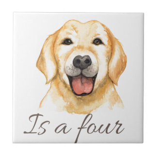 Love is a four legged word tile