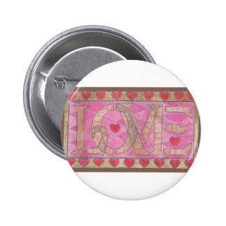Love is a four letter word pinback button