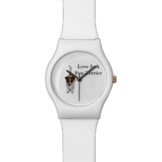 Love Is A Fox Terrier, Ladies White May Watch. Watch