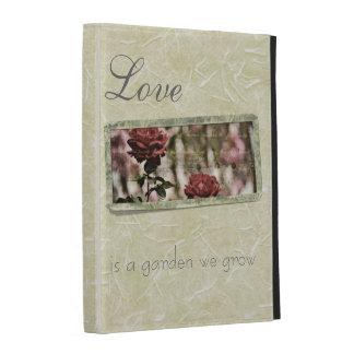 Love is a Garden We Grow Roses iPad Case
