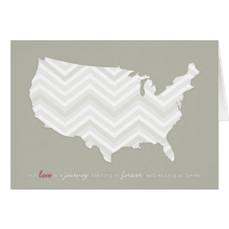 Love is a Journey Greeting Card w/ chevron map