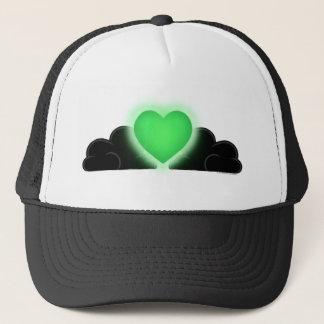 Love Is A Light In The Darkness - Green Heart Trucker Hat