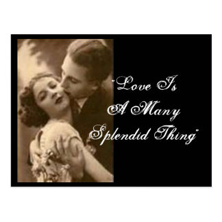 """Love Is A Many Splendid Thing"" Postcard Post Cards"