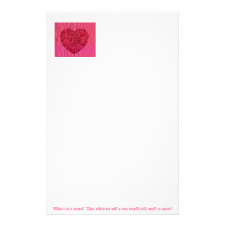Love is a Rose Customized Stationery