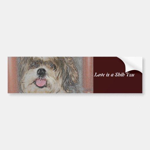 Love is a Shih TzU Bumper Stickers
