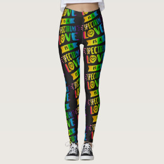 Love Is A Spectrum LGBT Pride Leggings
