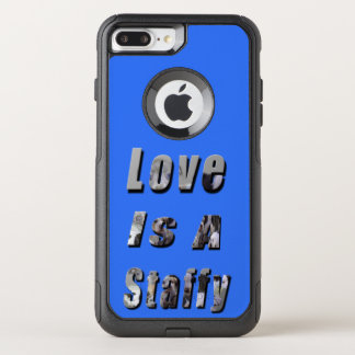 Love Is A Staffy Picture Logo, OtterBox Commuter iPhone 8 Plus/7 Plus Case