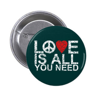 Love is All 6 Cm Round Badge