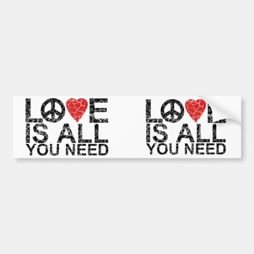 Love is All Bumper Stickers