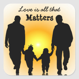Love is all that Matters, Gay Dads Family Sticker