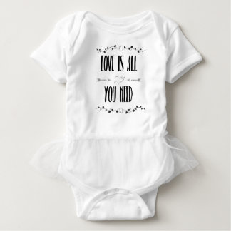 Love is All You Need Baby Bodysuit