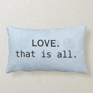 Love is all you need/ Blue Circles Lumbar Cushion