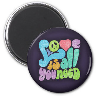 Love is All You Need II 6 Cm Round Magnet