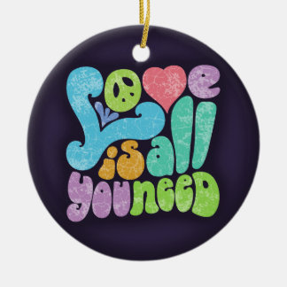 Love is All You Need II Round Ceramic Decoration