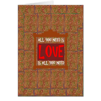 Love is ALL you need - wisdom words quote saying Cards