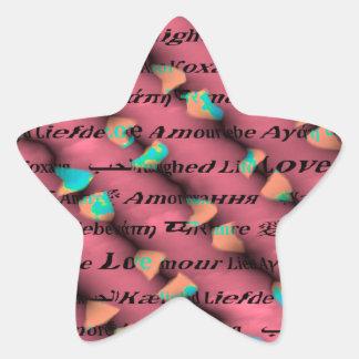 Love is Around Star Sticker