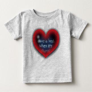 Love is Best Heart Valentine Shirt
