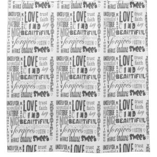 Love Is Bible Quote Christian  Custom Background Shower Curtain