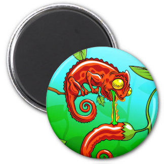 love is blind - chameleon fail 6 cm round magnet