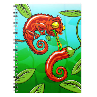 love is blind - chameleon fail spiral notebook