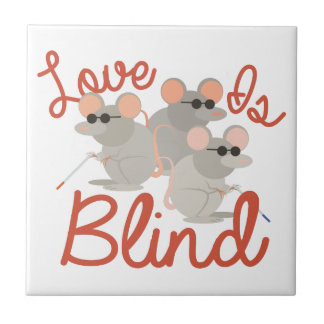 Love Is Blind Small Square Tile