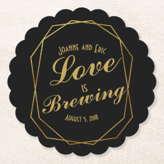 love is brewing wedding pub custom coaster art dec