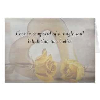 Love is composed of a single sou...card card