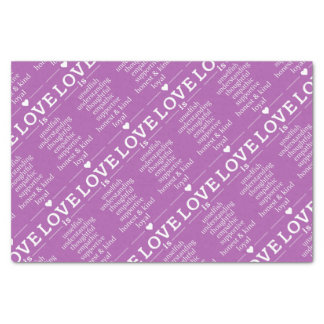 Love Is … custom color tissue paper