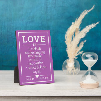 Love Is … custom monograms, date & color plaque