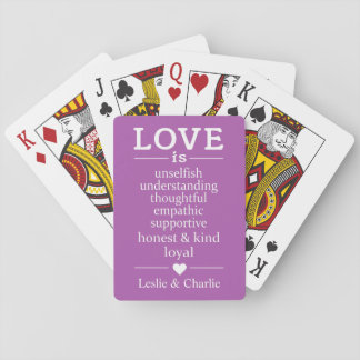 Love Is … custom names & color playing cards