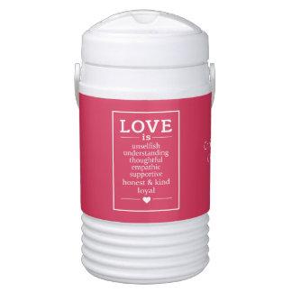 Love Is … custom names & date beverage cooler