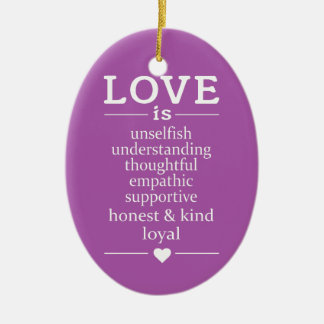Love Is … custom names, date & color ornament