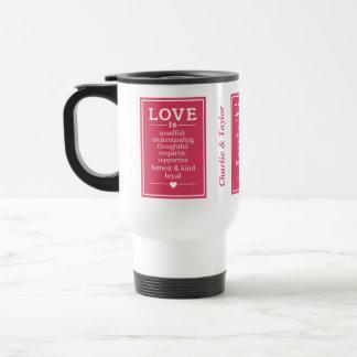 Love Is …custom names & date mugs