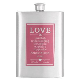 Love Is …custom names flask