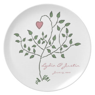 Love is deeply rooted Wedding Plate