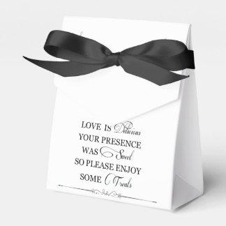 Love is delicious favour boxes