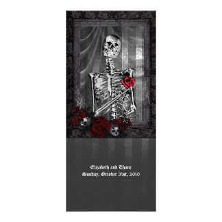 Love Is Eternal Gothic Wedding Menu Customized Rack Card