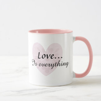 Love is everything Pink & White Coffee Mug