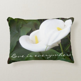 Love is Everywhere Calla Lily Pillow