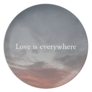 Love is everywhere Melamine Plate