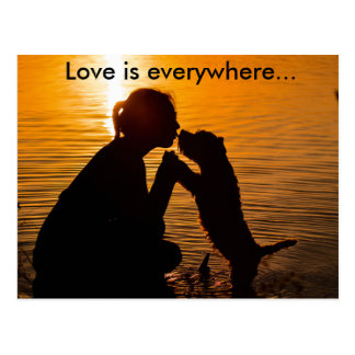 Love is everywhere - Postcard