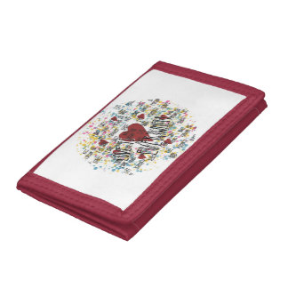 Love is everywhere tri-fold wallets
