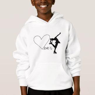 Love is Figure Skating, Girl Skater & Heart