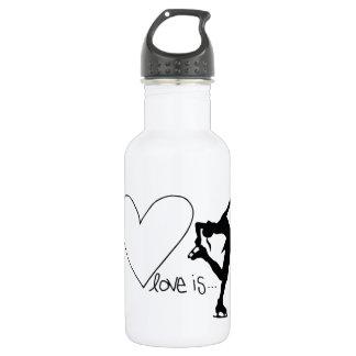 Love is Figure Skating, Girl Skater & Heart 532 Ml Water Bottle