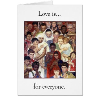 Love is...for everyone card