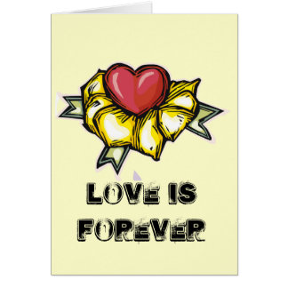 Love is forever greeting card