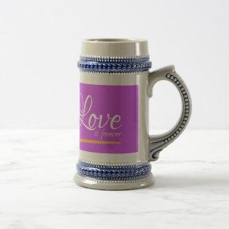 Love is forever mug jug stein