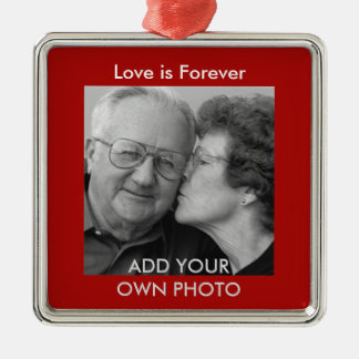 Love is Forever Photo Ornament
